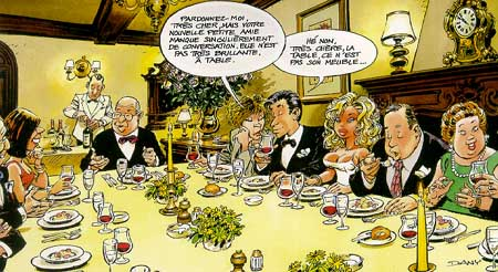 Repas sympa dessin humoristique blondes humour et for Repas sympa entre amis