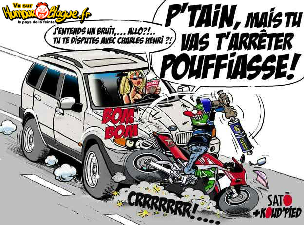 blonde contre motards