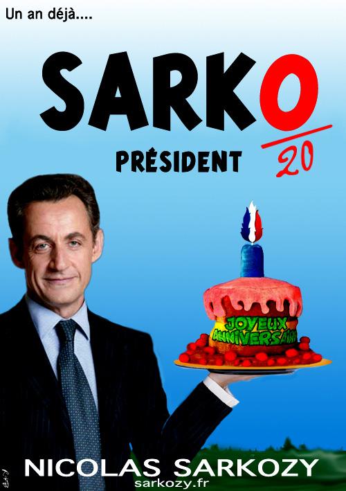 Sarko : 1 an