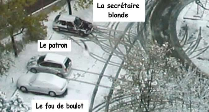 un parking qui en dit long....